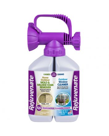 Rejuvenate 32oz Outdoor Window Cleaner & 32oz Mold and Mildew Stain Remover
