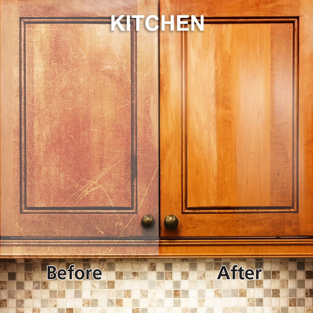 Rejuvenate cabinet and furniture cleaner for Best product to clean wood kitchen cabinets