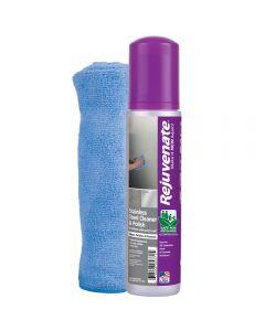 Rejuvenate Stainless Steel Cleaner, Microfiber Towel, and Polish Kit