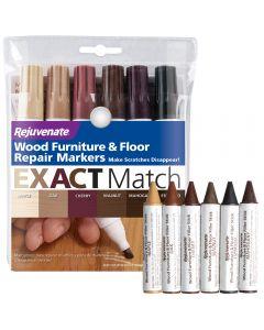 Rejuvenate Wood Furniture Repair Kit Wood Marker Set and Wax Sticks (Set of 12)