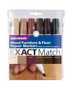 Rejuvenate Wood Furniture & Floor Repair Markers – 6 Piece Set