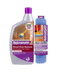 Rejuvenate Professional Wood Floor Restorer with Gloss Finish and Restorer Bonnet