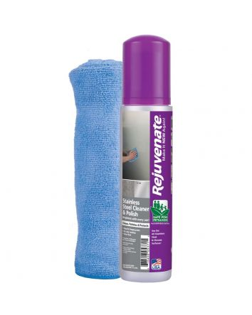 Rejuvenate Stainless Steel Cleaner, Microfiber Towel, and Polish Kit