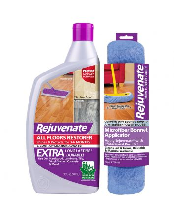 Rejuvenate 32oz All Floors Restorer and Restorer Bonnet