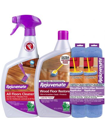 Rejuvenate Floor Pro Gloss Restorer - 4 Piece Kit