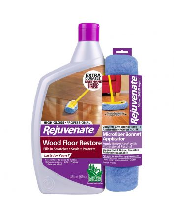 Rejuvenate Professional Wood Floor Restorer with Gloss Finish and Restorer Bonnet