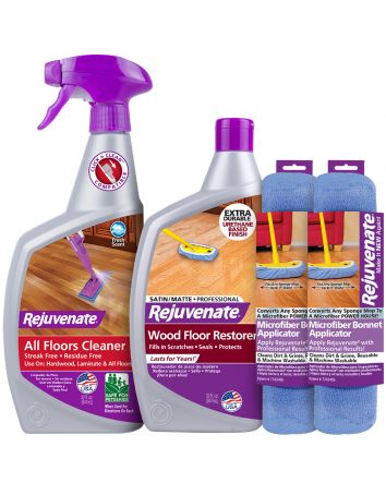 Rejuvenate Floor Pro Restorer with Satin Finish (4 Piece Kit)
