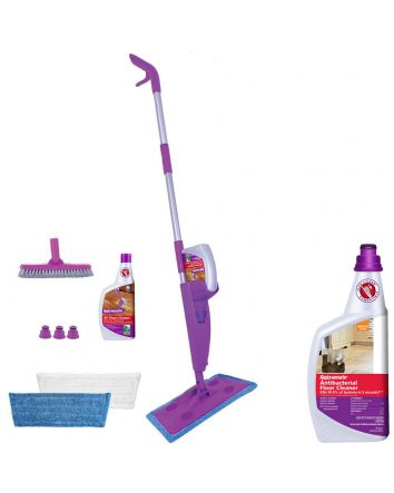Click and Clean Multi Surface Mop Kit & Antibacterial Floor Cleaner