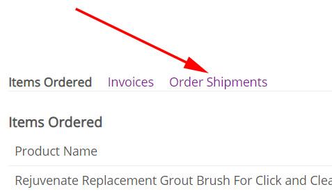 Order Shipments Tab