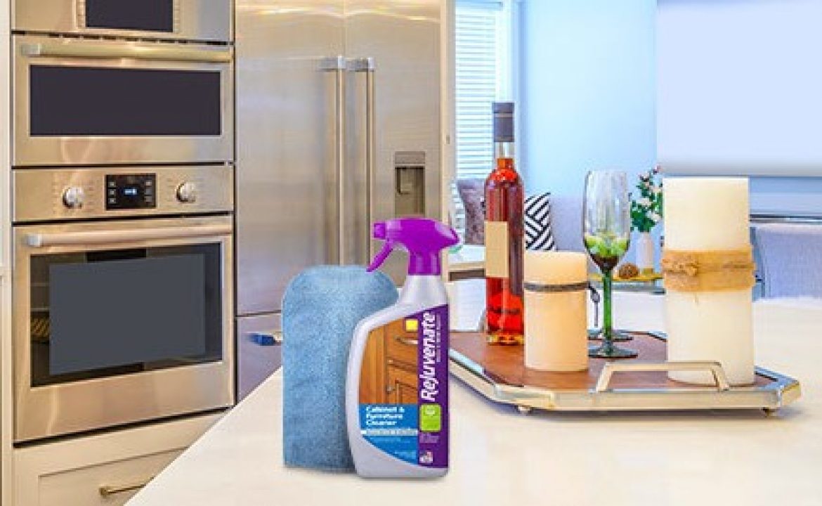 How to Remove Grease from Kitchen Cabinets with Rejuvenate